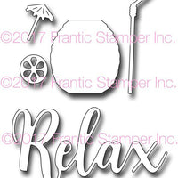 Frantic Stamper Cutting Die - Relax With A Drink