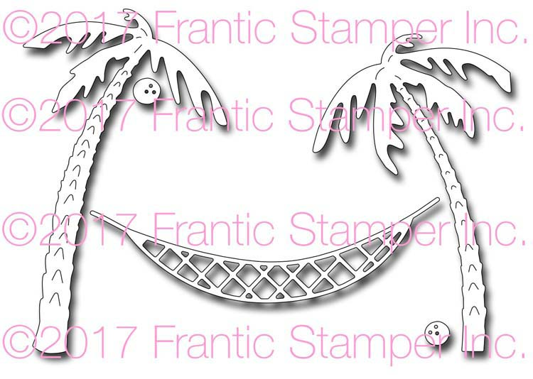 Frantic Stamper Cutting Die - Hammock and Palm Trees
