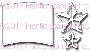 Frantic Stamper Cutting Die - 3D Stars and Flag Field