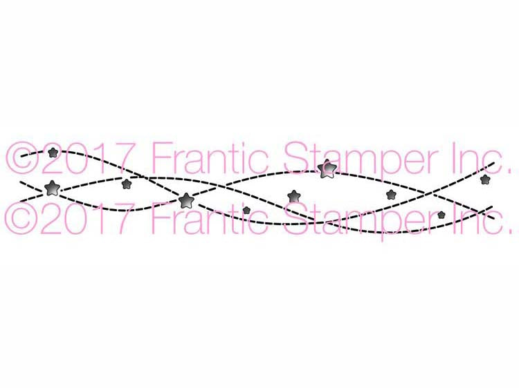 Frantic Stamper Cutting Die - Streaming Stars