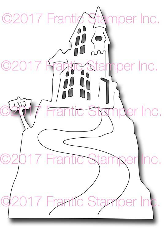 Frantic Stamper Cutting Die - Haunted Hill