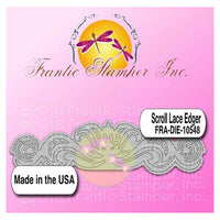 Frantic Stamper Cutting Die - Scroll Lace Edger