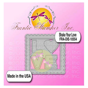 Frantic Stamper Cutting Die - Shake Your Love