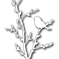 Frantic Stamper Cutting Die - Bird on Pussywillow Branch