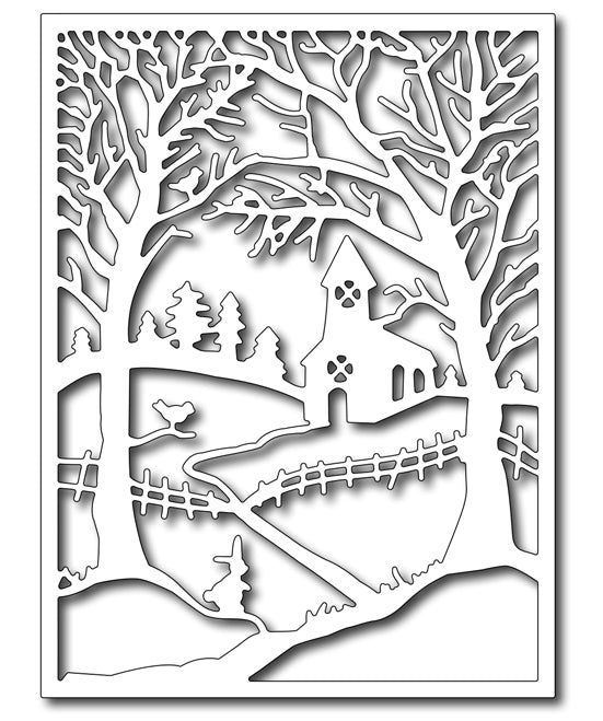 Frantic Stamper Cutting Die - Winter Church in the Wildwood Panel