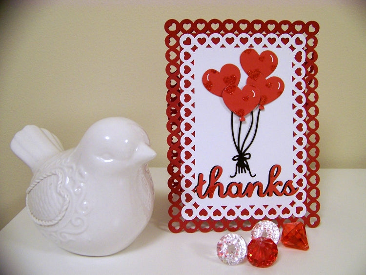 Frantic Stamper Cutting Die - Heart Balloons (set of 4 dies)