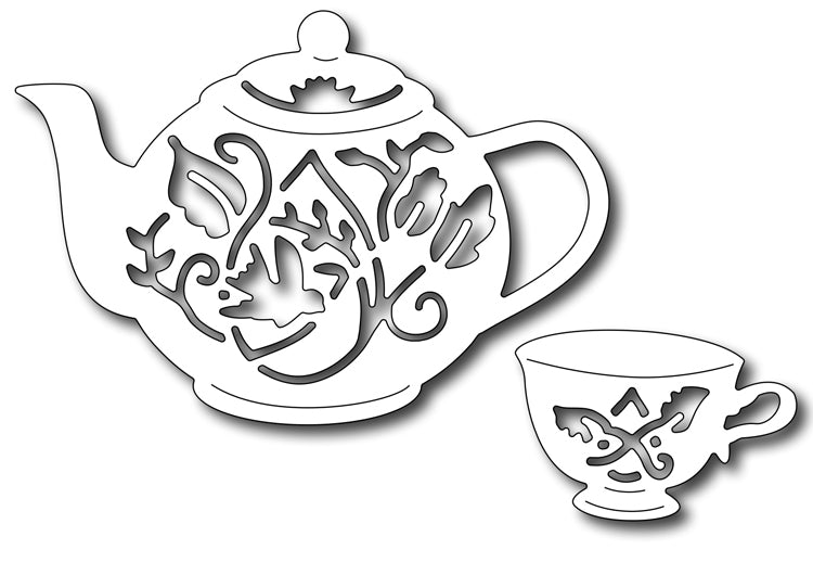Frantic Stamper Cutting Die - Tea set (set of 2 dies)