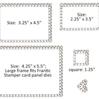 Frantic Stamper Cutting Die - Double Loop Frames