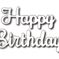 Frantic Stamper Cutting Die - Happy Birthday (script)
