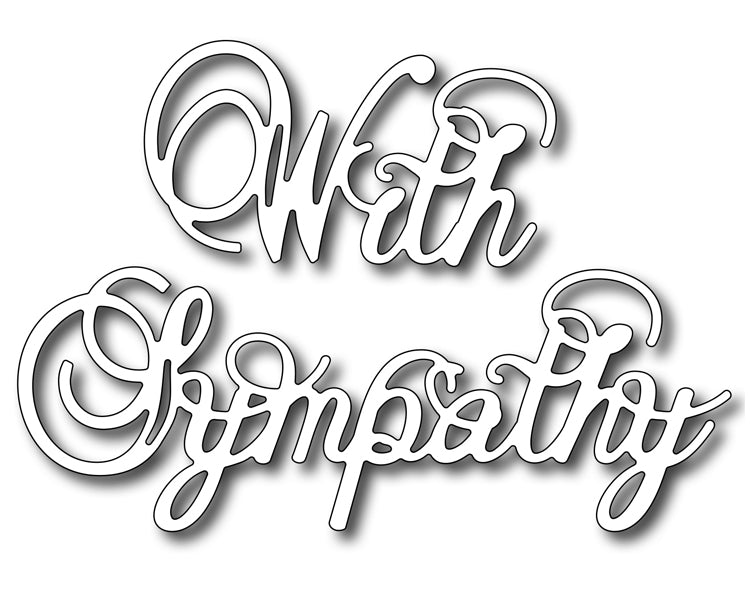 Frantic Stamper Cutting Die - With Sympathy (large)