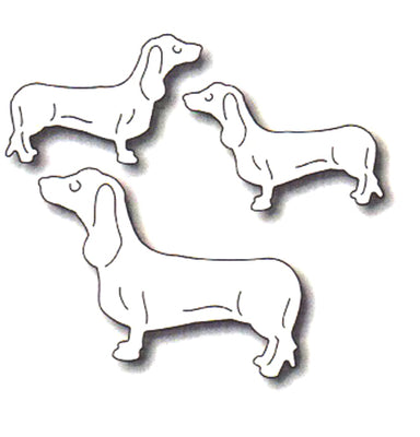 Frantic Stamper Cutting Die - Three Dachshunds