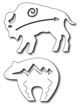 Frantic Stamper Cutting Die - Southwestern Bear & bison (set of 2 dies)