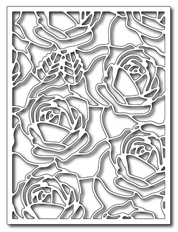 Frantic Stamper Cutting Die - Blooming Roses Card Panel