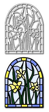 Frantic Stamper Cutting Die - Daffodils Stained Glass