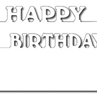 Frantic Stamper Cutting Die - Happy Birthday Layer Markers (2)