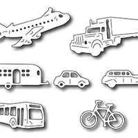 Frantic Stamper Cutting Die - Transportation Icons (set of 7 dies)