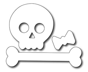 Frantic Stamper Cutting Die - Cute Skull and Crossbone