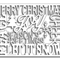 Frantic Stamper Cutting Die - Christmas Words Card Panel