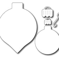 Frantic Stamper Cutting Die - Large Solid Ornament Duo