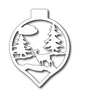 Frantic Stamper Cutting Die - Deer in Woods Ornament