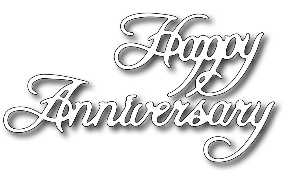 Frantic Stamper Cutting Die - Happy Anniversary