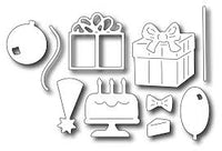 Frantic Stamper Cutting Die - Birthday Icons (set of 10 dies)