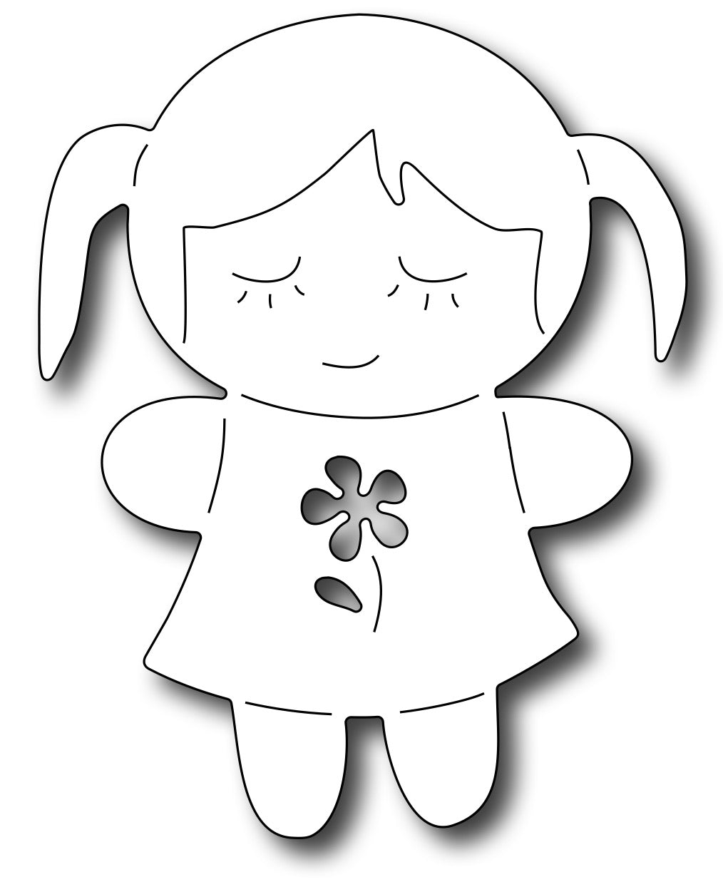 Frantic Stamper Cutting Die - Doll