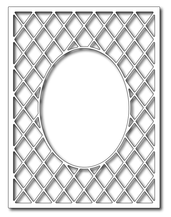 Frantic Stamper Cutting Die - Lattice Oval Frame