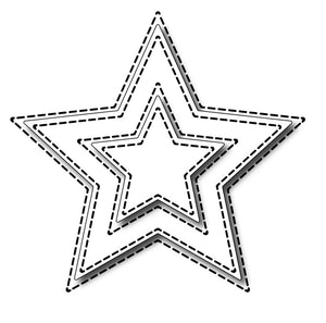 Frantic Stamper Cutting Die - Small Stitched Stars
