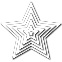 Frantic Stamper Cutting Die - Nested Plain Star In-Betweens