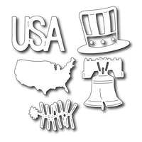 Frantic Stamper Cutting Die - Patriotic Icons