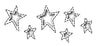 Frantic Stamper Cutting Die - Reverse Cut Stitched Country Stars