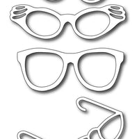 Frantic Stamper Cutting Die - Retro Glasses