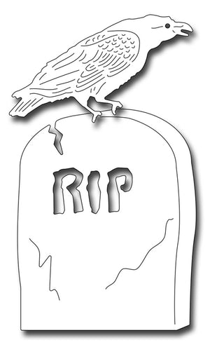 Frantic Stamper Cutting Die - Tombstone And Raven