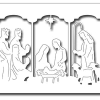 Frantic Stamper Cutting Die - Triptych Nativity Card Panel