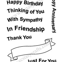Frantic Stamper Clear Stamp - Set - Wavy Banners and Greetings
