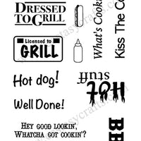 Frantic Stamper Clear Stamp - Set - Dressed To Grill