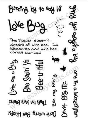 Frantic Stamper Clear Stamp - Set - Bee-u-tiful