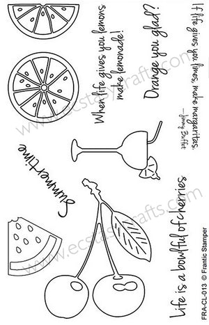 Frantic Stamper Clear Stamp - Set - Summertime Fruits