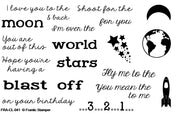 Frantic Stamper Clear Stamp - Set - Sentiments From Space