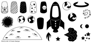 "Frantic Stamper Clear Stamp - Set - The Final Frontier (4""x8"")"