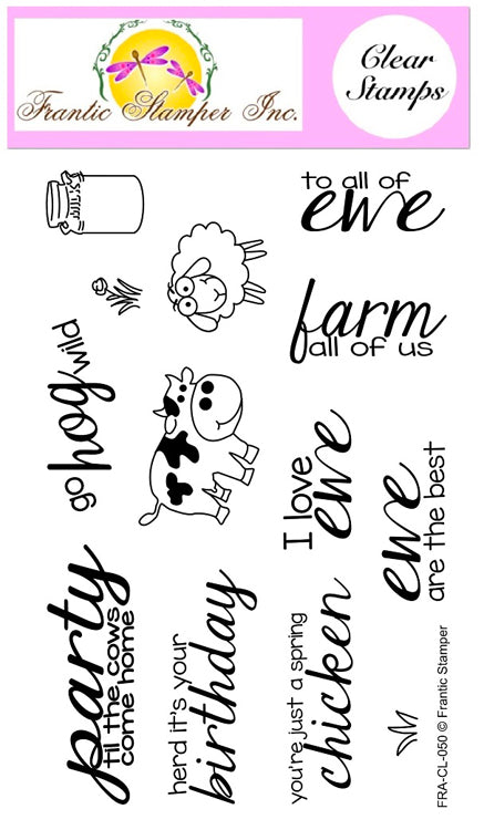 Frantic Stamper Clear Stamp - Set - Party Animals
