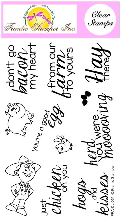 Frantic Stamper Clear Stamp - Set - Hogs & Kisses