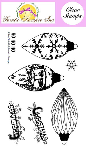 Frantic Stamper Clear Stamp - Set - Pinecone Ornaments