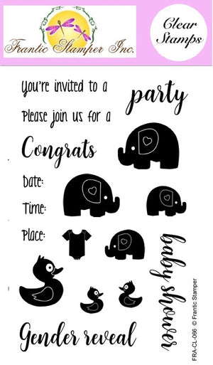 Frantic Stamper Clear Stamp - Set - Baby Party