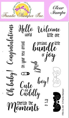 Frantic Stamper Clear Stamp - Set - Welcome Baby
