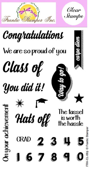 Frantic Stamper Clear Stamp - Set - You Did It!