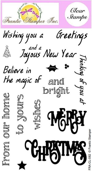 Frantic Stamper Clear Stamp - Set - Merry Christmas Sentiments