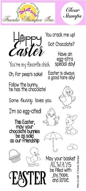 Frantic Stamper Clear Stamp - Set - Easter Greetings