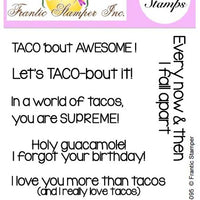 Frantic Stamper Clear Stamp - Set - Taco Sentiments
